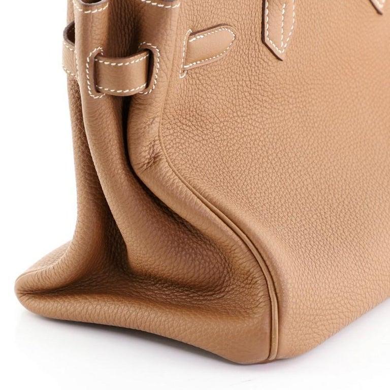 Hermes Birkin Handbag Gold Togo with Palladium Hardware 30 For Sale 7