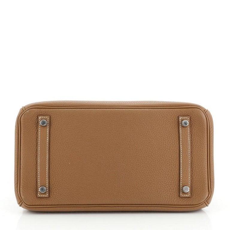 Hermes Birkin Handbag Gold Togo with Palladium Hardware 30 For Sale 1