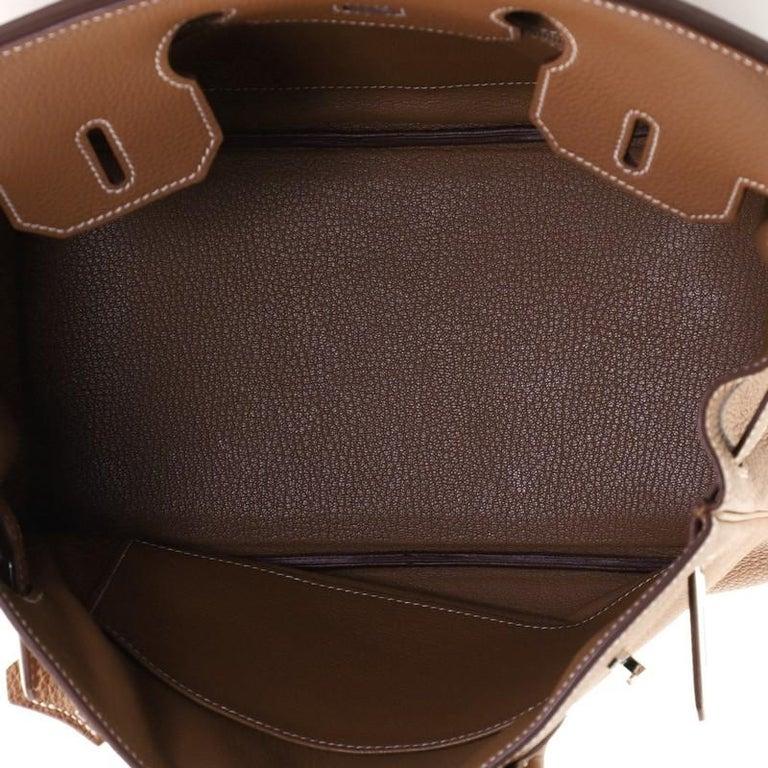 Hermes Birkin Handbag Gold Togo with Palladium Hardware 30 For Sale 2