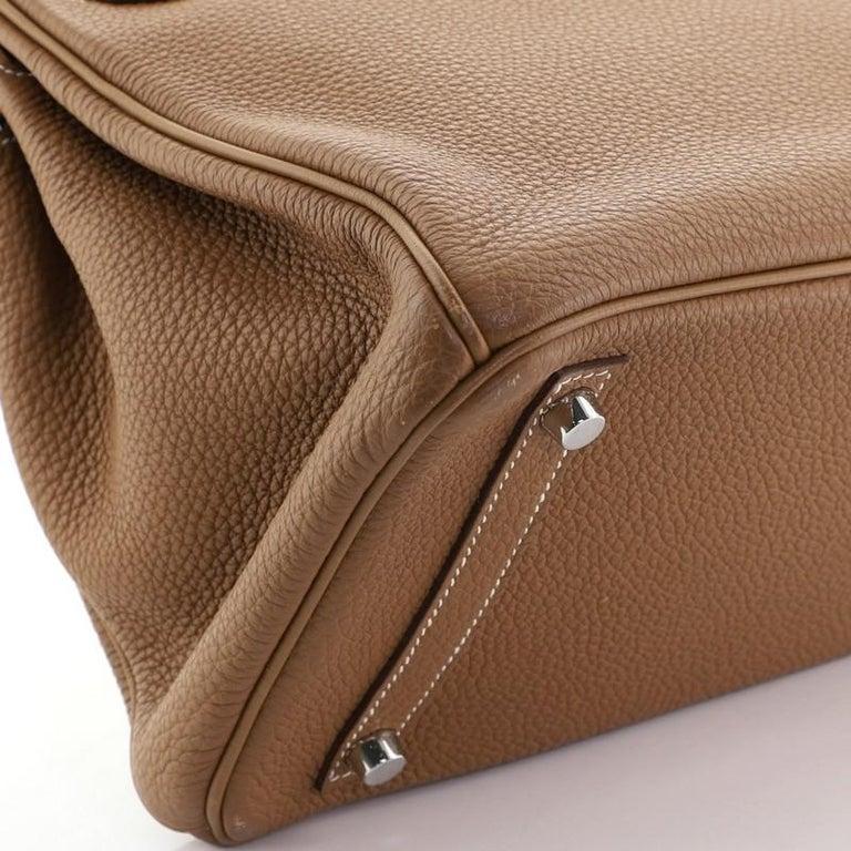Hermes Birkin Handbag Gold Togo with Palladium Hardware 30 For Sale 4