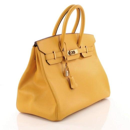 Hermes Birkin Handbag Jaune Courchevel with Gold Hardware 35 at 1stdibs 78ef9cd907f11