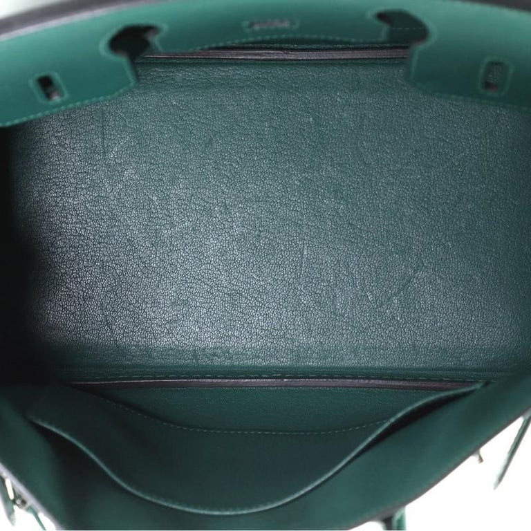 Hermes Birkin Handbag Malachite Epsom with Palladium Hardware 30 For Sale 2