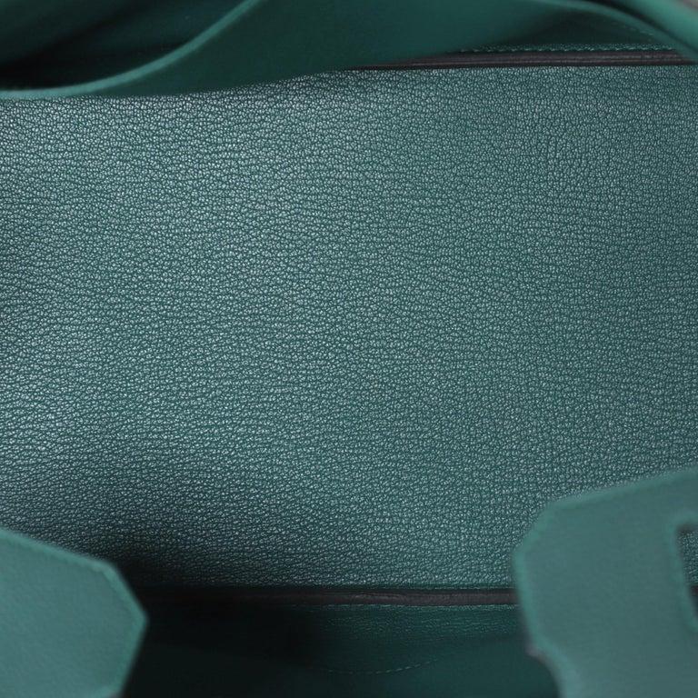 Hermes Birkin Handbag Malachite Togo with Gold Hardware 35 For Sale 1