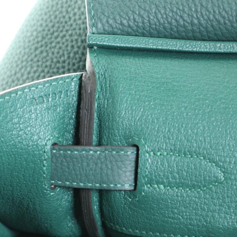 Hermes Birkin Handbag Malachite Togo with Gold Hardware 35 For Sale 3