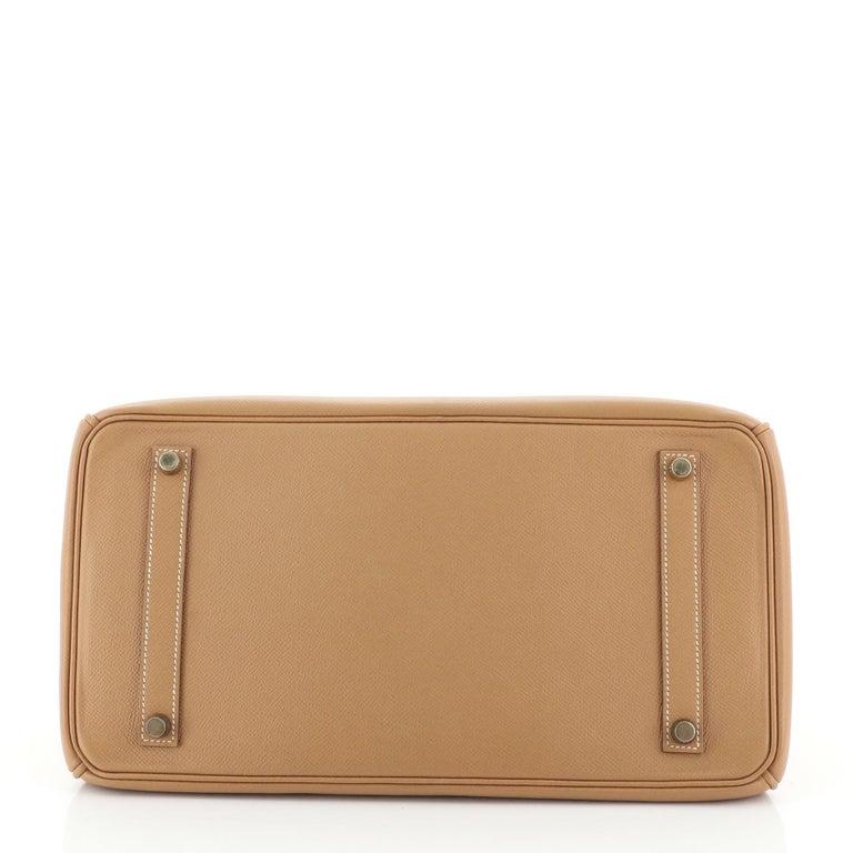 Hermes Birkin Handbag Natural Courchevel with Gold Hardware 35 For Sale 1