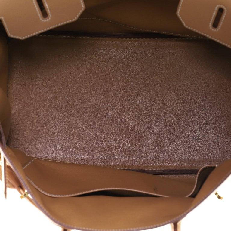Hermes Birkin Handbag Natural Courchevel with Gold Hardware 35 For Sale 2