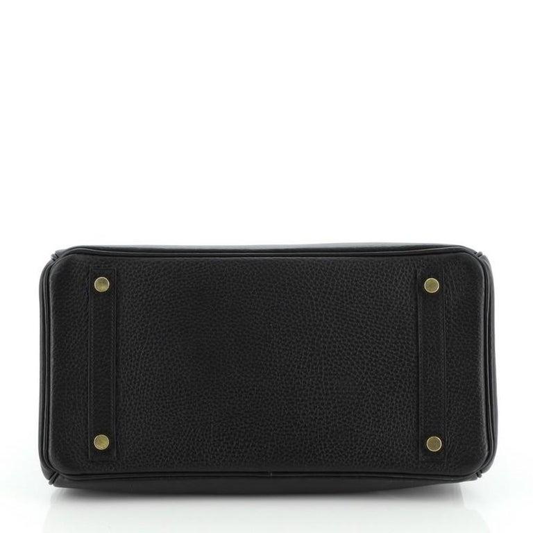 Hermes Birkin Handbag Noir Ardennes with Gold Hardware 30 For Sale 1