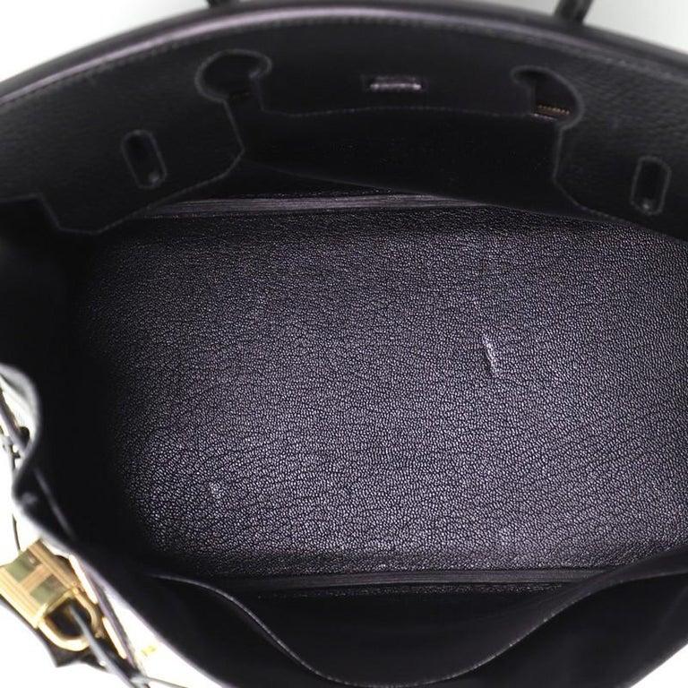 Hermes Birkin Handbag Noir Ardennes with Gold Hardware 30 For Sale 2