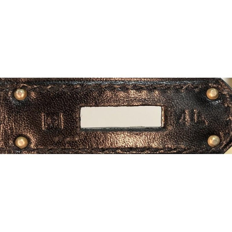 Hermes Birkin Handbag Noir Box Calf with Palladium Hardware 35 For Sale 6