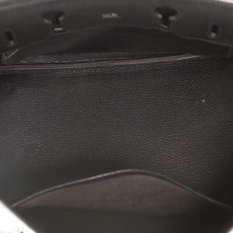 Hermes Birkin Handbag Noir Fjord with Palladium Hardware 35 For Sale 1