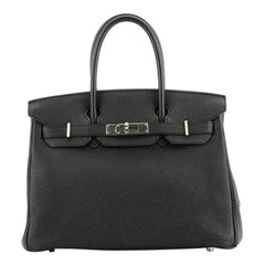 Hermes  Birkin Handbag Noir Togo with Palladium Hardware 30