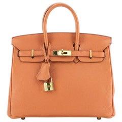 Hermes Birkin Handbag Orange H Togo with Gold Hardware 25
