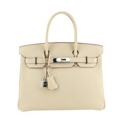 Hermes Birkin Handbag Parchemin Swift with Palladium Hardware 30