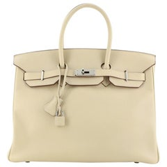 Hermes Birkin Handbag Parchemin Swift with Palladium Hardware 35