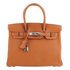 Hermes Birkin Handbag Potiron Chevre de Coromandel with Palladium Hardware 30