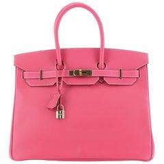 Hermes Birkin Handbag Rose Tyrien Epsom with Gold Hardware 35