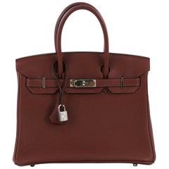 Hermes Birkin Handbag Rouge H Togo with Palladium Hardware 30