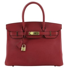 Hermes Birkin Handbag Rubis Epsom with Gold Hardware 30
