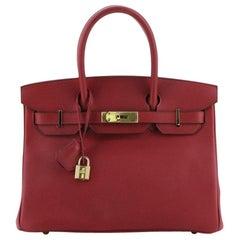 Hermes Birkin Handbag Rubis Epsom with Gold Hardware 30