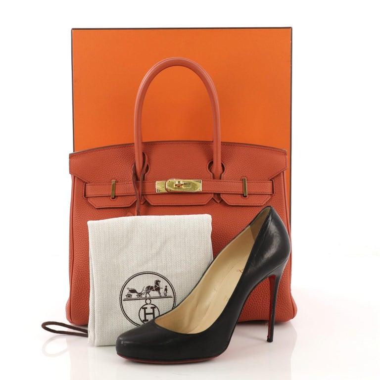 db74b9552f Hermes Birkin Handbag Terre Battue Togo with Gold Hardware 30 For ...