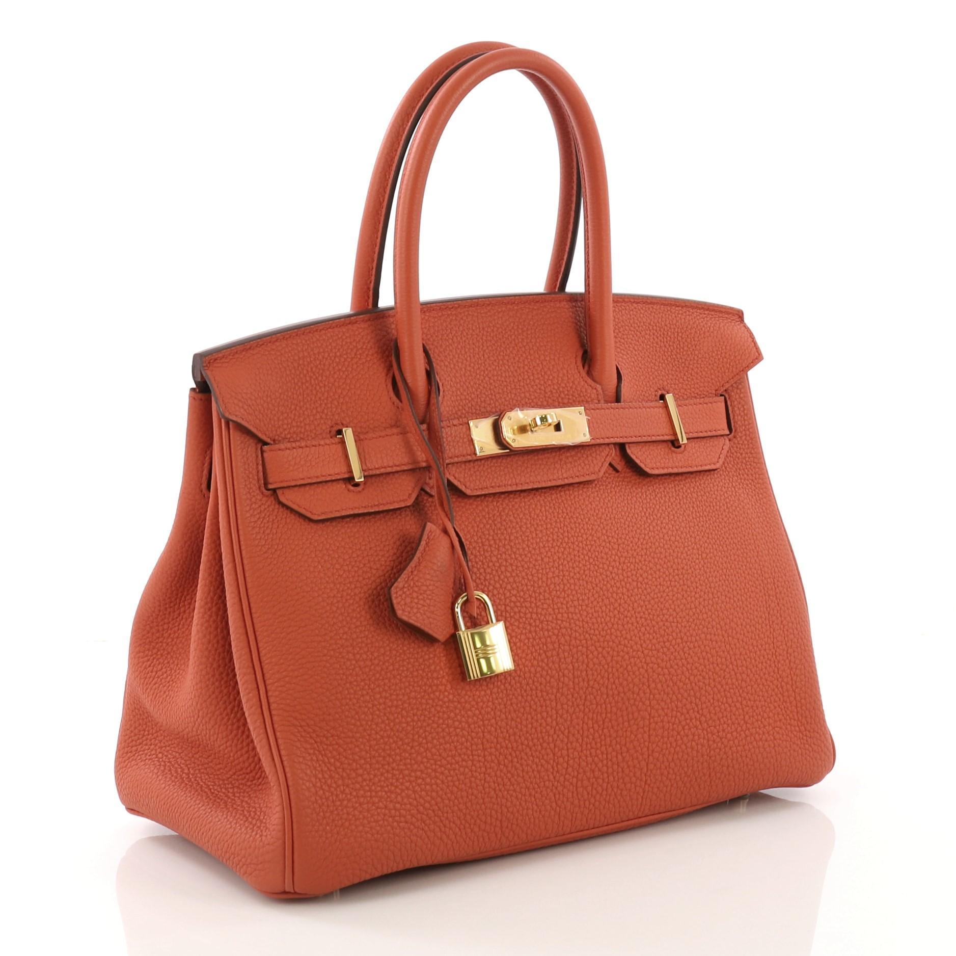 6793424573 Hermes Birkin Handbag Terre Battue Togo with Gold Hardware 30 For Sale at  1stdibs