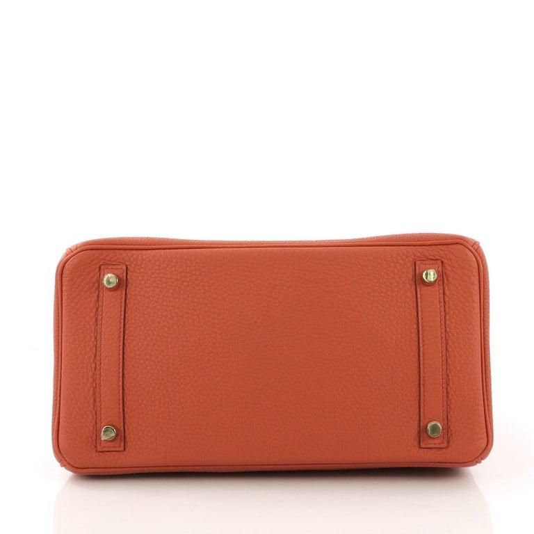 ffb94cebae Women s Hermes Birkin Handbag Terre Battue Togo with Gold Hardware 30 For  Sale