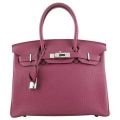 Hermes Birkin Handbag Tosca Togo with Palladium Hardware 30