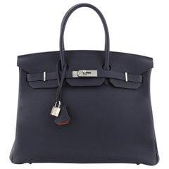 Hermes Birkin Handbag Verso Togo with Palladium Hardware 35