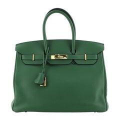 Hermes  Birkin Handbag Vert Bengale Swift with Gold Hardware 35