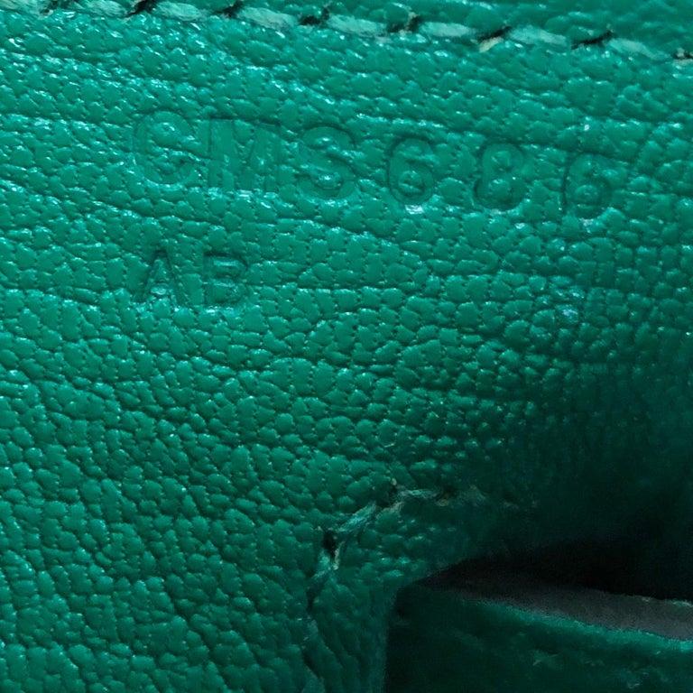 Hermes Birkin Handbag Vert Vertigo Epsom with Gold Hardware 30 For Sale 6