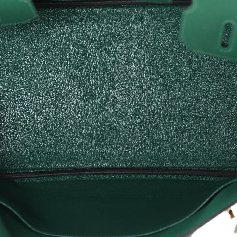 Hermes Birkin Handbag Vert Vertigo Epsom with Gold Hardware 30 For Sale 2