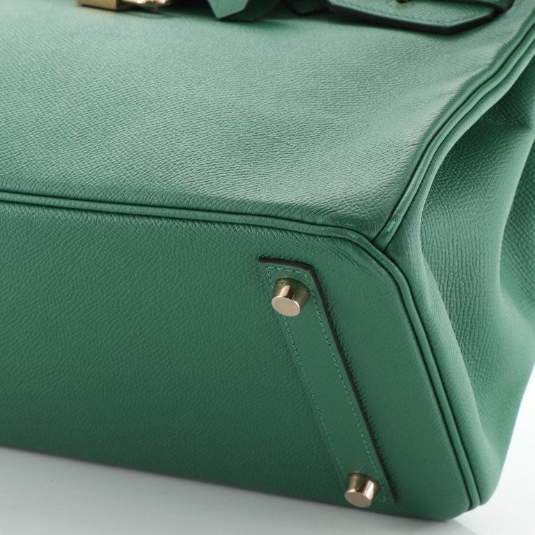 Hermes Birkin Handbag Vert Vertigo Epsom with Gold Hardware 30 For Sale 4