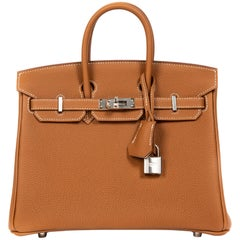 Hermès Birkin HSS 25 Togo Gold and Craie