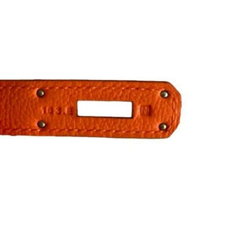 Hermès, Birkin in orange leather For Sale 1