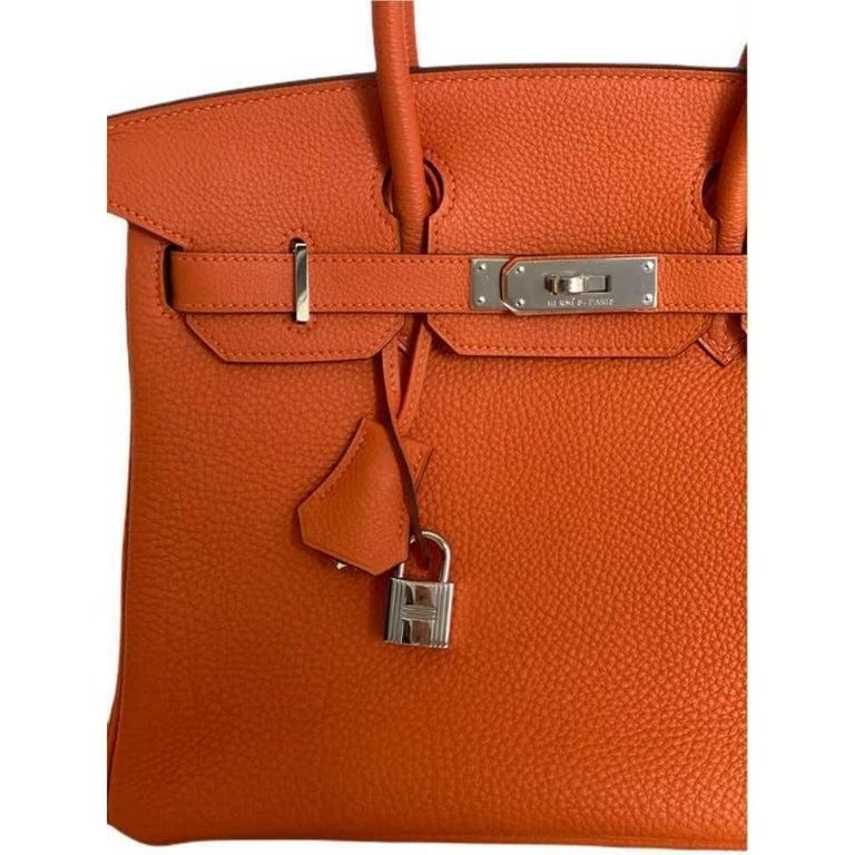 Hermès, Birkin in orange leather For Sale 2