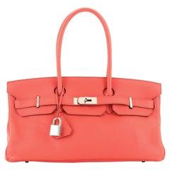 Hermes Birkin JPG Handbag Bougainvillier Clemence with Palladium Hardware 42