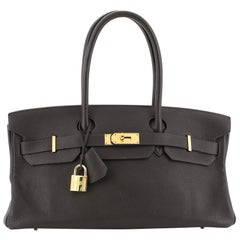 Hermes Birkin JPG Handbag Cafe Clemence with Gold Hardware 42
