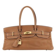 Hermes Birkin JPG Handbag Gold Clemence with Gold Hardware 42