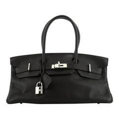 Hermes  Birkin JPG Handbag Noir Clemence with Palladium Hardware 42