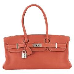 Hermes Birkin JPG Handbag Sanguine Togo with Palladium Hardware 42