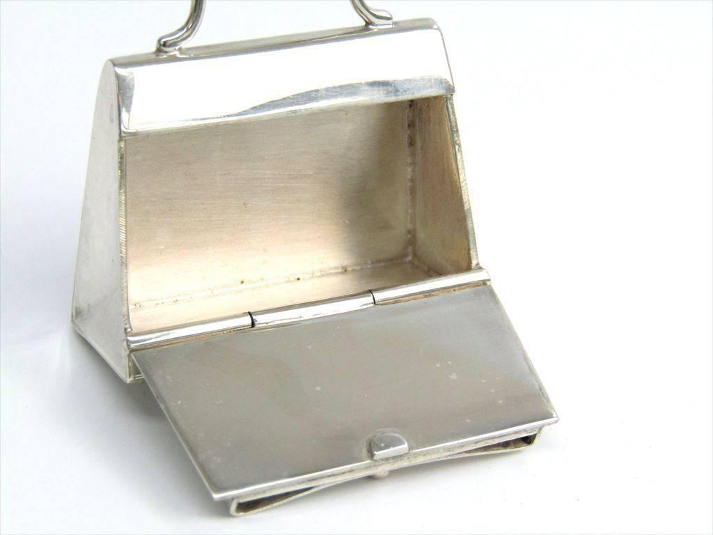 Hermès Hermes Genuine Sterling Silver Trinket Collectible Bag Box a9xPloo