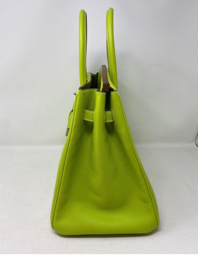 Hermes Birkin Kiwi Candy Birkin 35 For Sale 4
