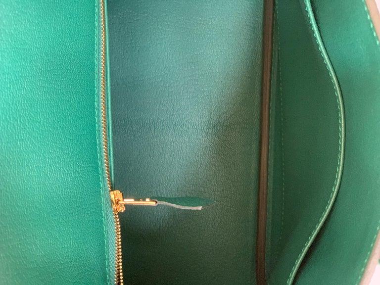 Hermes Birkin Malachite Togo Birkin 25 Gold For Sale 5