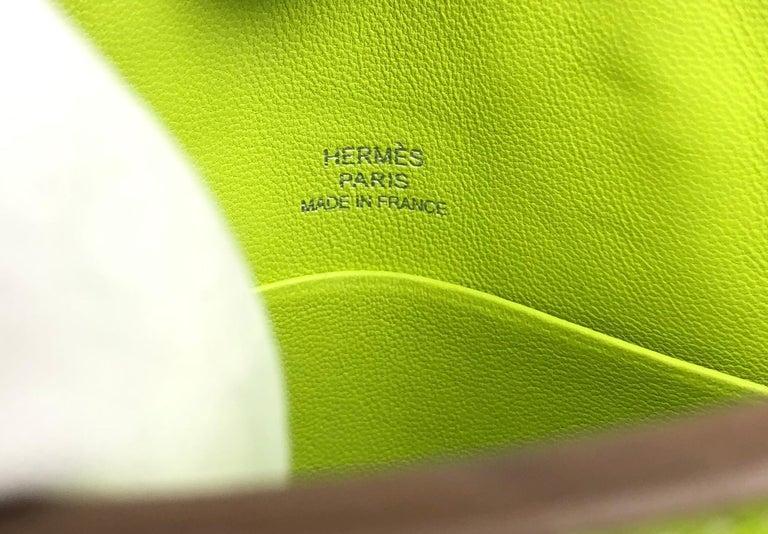 Hermes Birkin Micro Mini Kiwi Epsom Palladium Hwr W/ Strap For Sale 1