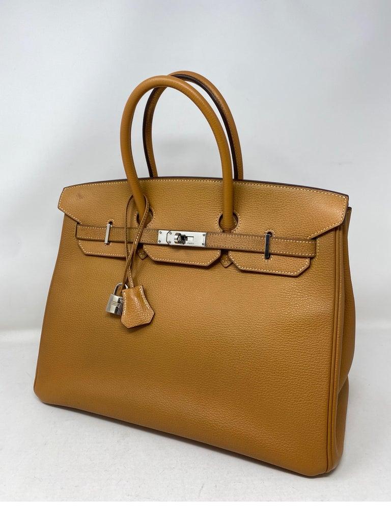 Hermes Birkin Natural 35 Bag  For Sale 5