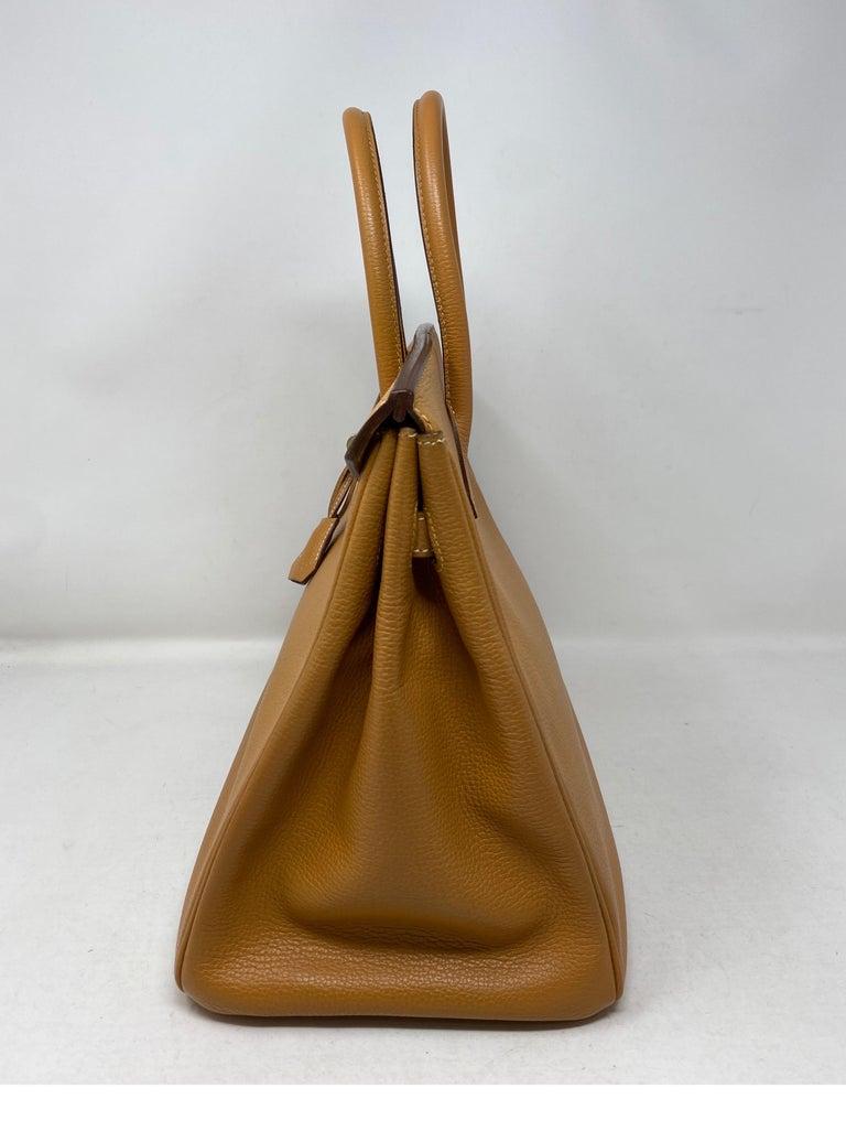 Hermes Birkin Natural 35 Bag  For Sale 6