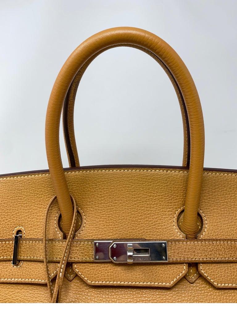 Hermes Birkin Natural 35 Bag  For Sale 8