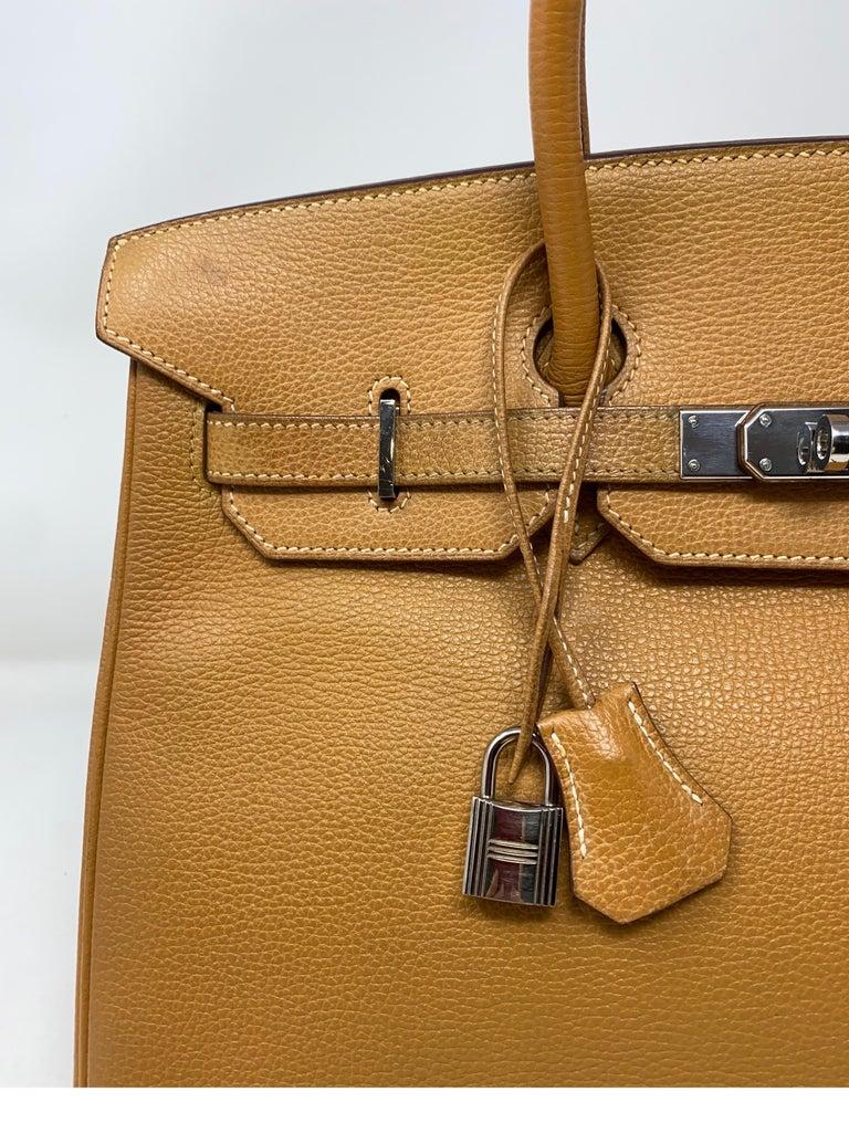 Hermes Birkin Natural 35 Bag  For Sale 9