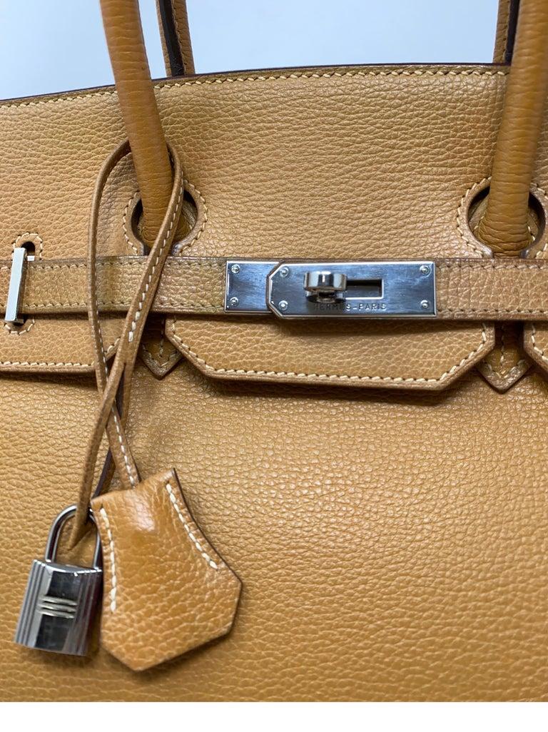 Hermes Birkin Natural 35 Bag  For Sale 10