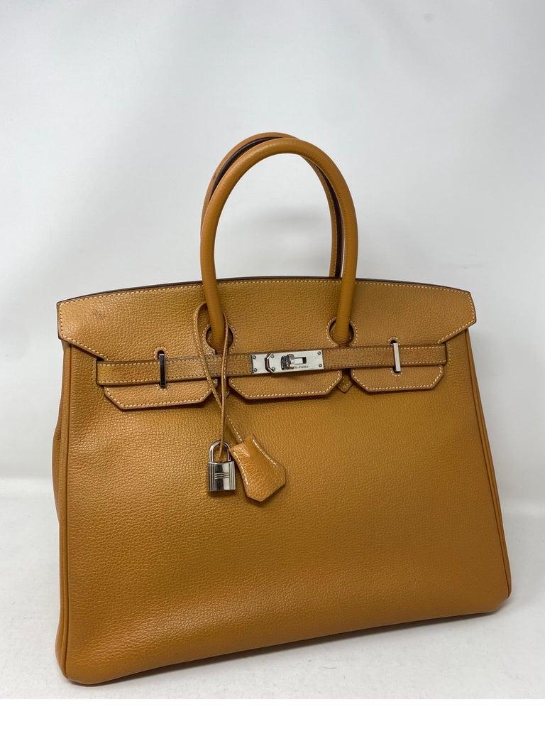 Hermes Birkin Natural 35 Bag  For Sale 4